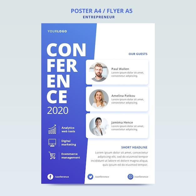 Modelo de folheto para conferência de negócios Psd grátis
