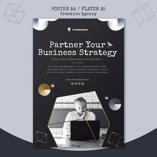 Modelo de folheto para empresa parceira de negócios Psd grátis