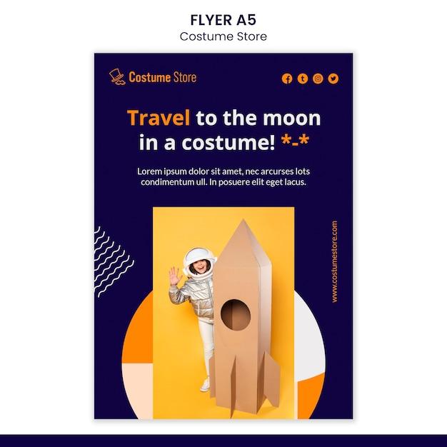 Modelo de folheto para fantasias de halloween Psd grátis
