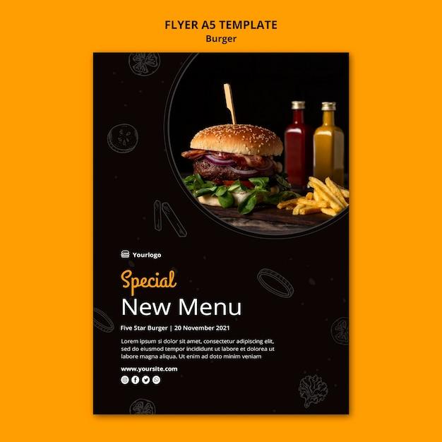 Modelo de folheto para hambúrguer bistrô Psd grátis