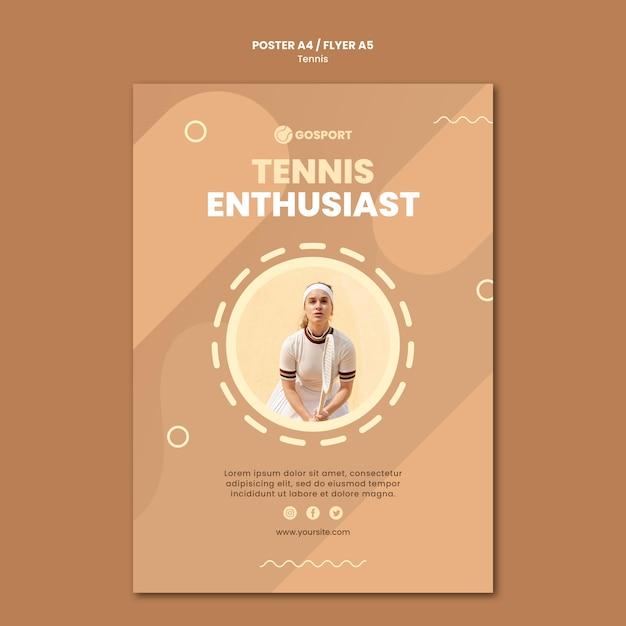 Modelo de folheto para jogar tênis Psd grátis