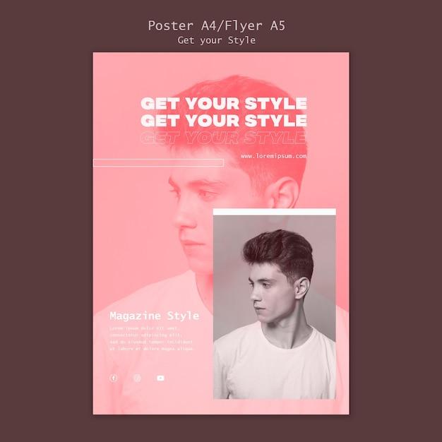 Modelo de folheto para revista de estilo eletrônico Psd grátis