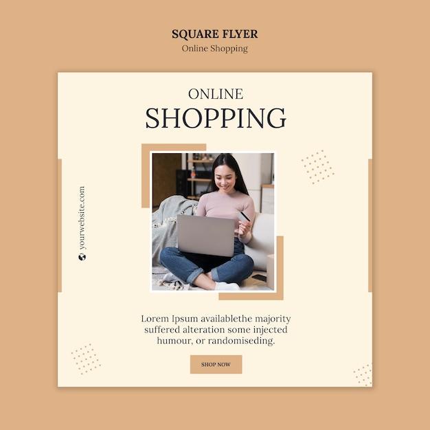 Modelo de folheto quadrado compras online Psd grátis