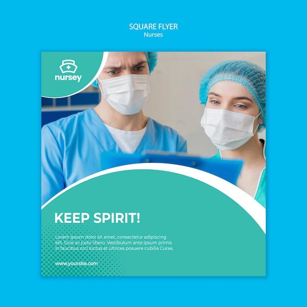 Modelo de folheto quadrado conceito de saúde Psd grátis