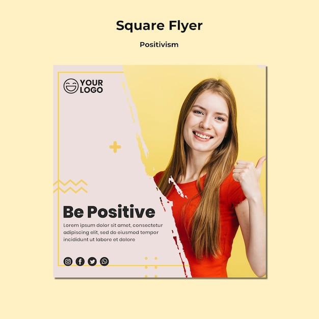 Modelo de folheto - quadrado do positivismo Psd grátis