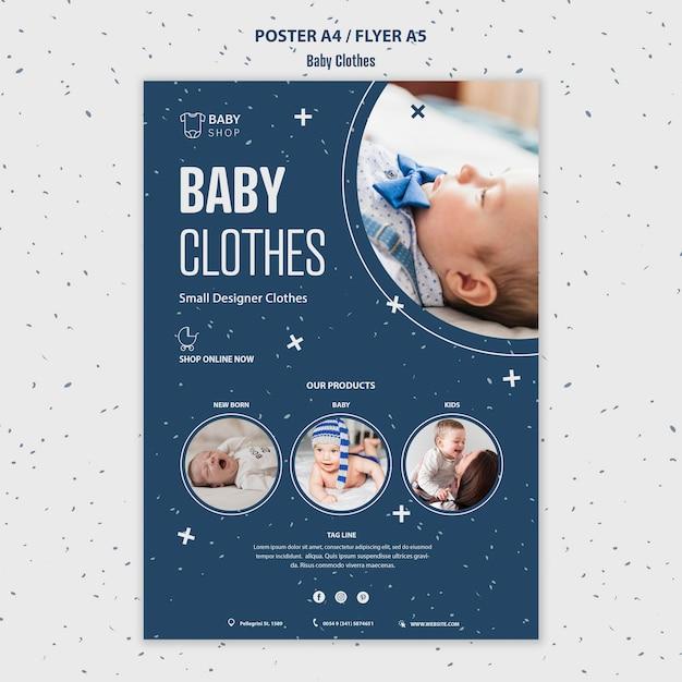 Modelo de folheto - roupas de bebê Psd grátis