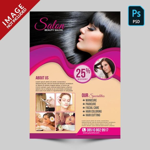Modelo de folheto - salão de beleza Psd Premium