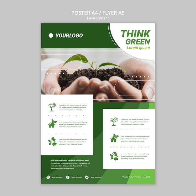 Modelo de folheto - salvar o mundo Psd grátis