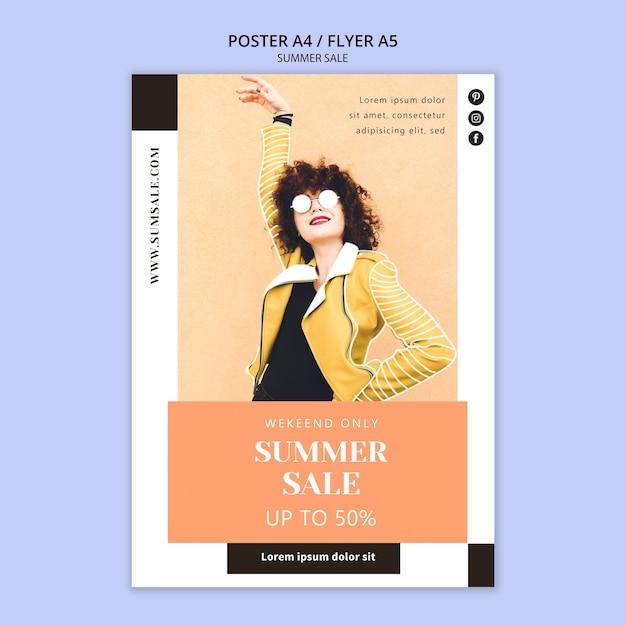 Modelo de folheto - venda verão Psd grátis
