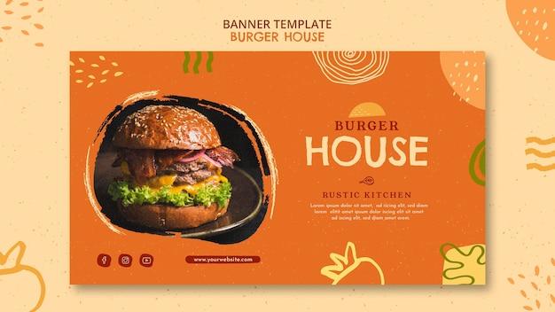 Modelo de hambúrguer de banner Psd grátis