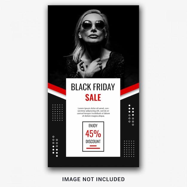 Modelo de história do instagram de sexta-feira negra Psd Premium