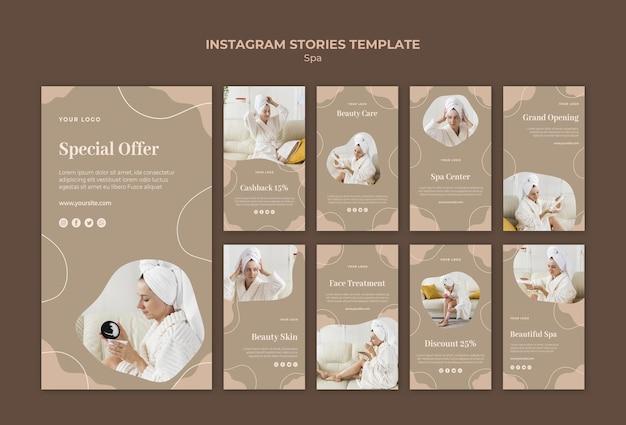 Modelo de histórias de instagram de conceito de spa Psd grátis