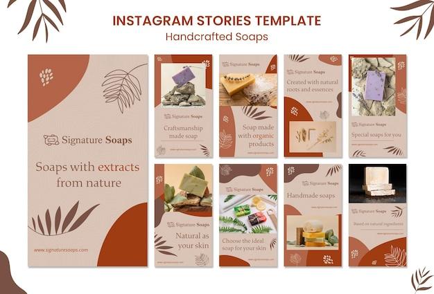 Modelo de histórias de mídia social de sabão caseiro Psd Premium