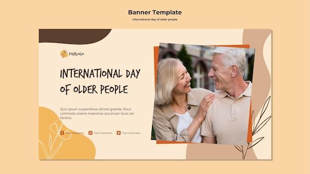 Modelo de histórias de mídia social para o dia internacional dos idosos Psd grátis