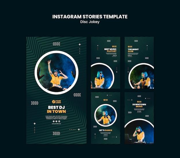 Modelo de histórias do dj instagram Psd grátis