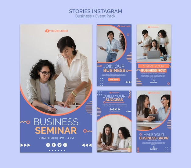 Modelo de histórias do instagram com o conceito de evento de negócios Psd grátis