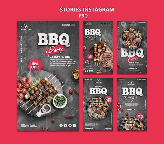 Modelo de histórias do instagram de churrasco Psd grátis