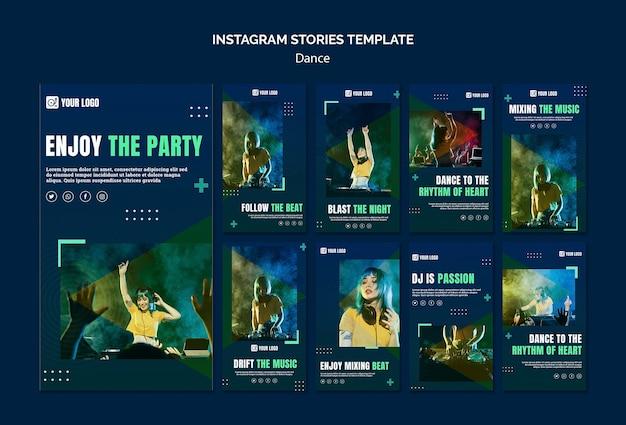 Modelo de histórias do instagram de conceito de dança Psd grátis
