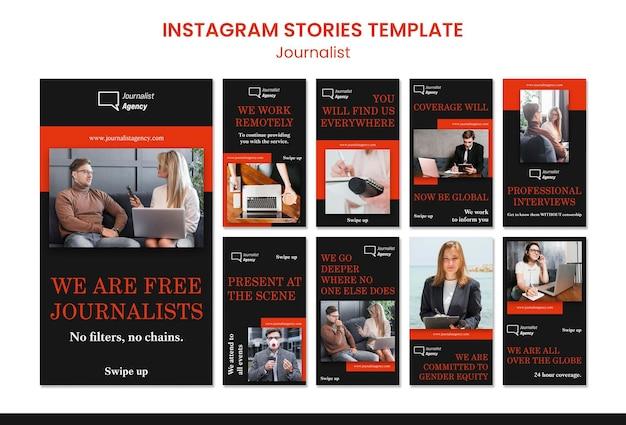 Modelo de histórias do instagram de conceito de jornalista Psd grátis