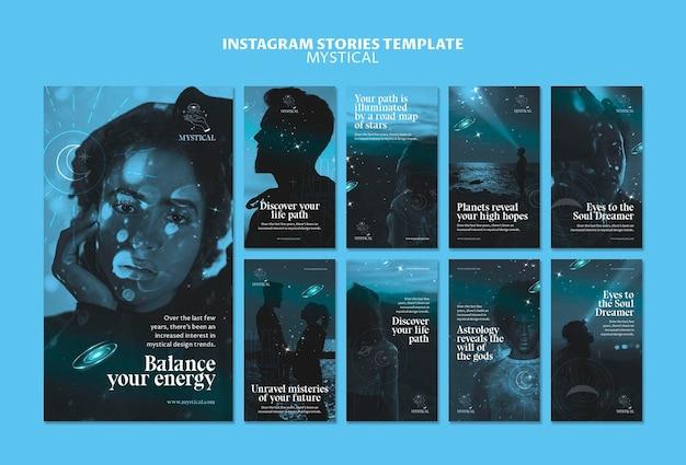 Modelo de histórias do instagram de conceito místico Psd grátis