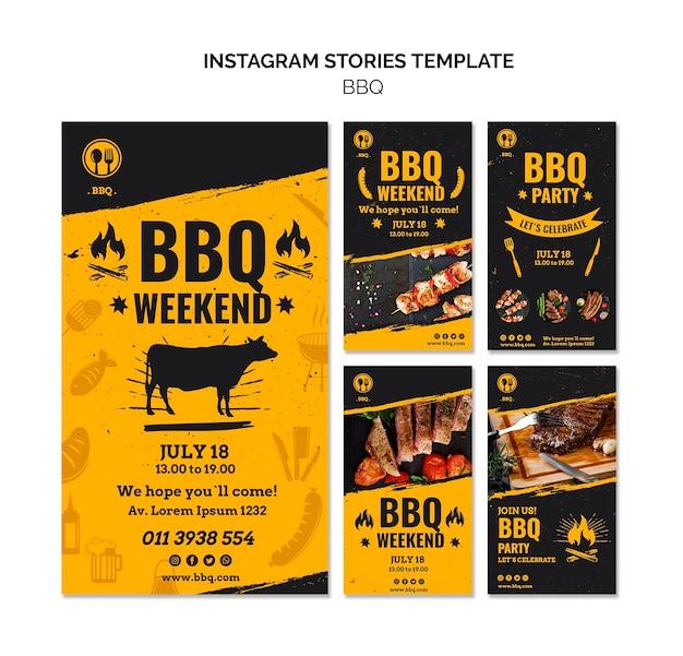 Modelo de histórias do instagram de festa de churrasco Psd grátis