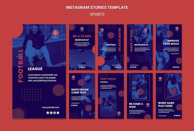 Modelo de histórias do instagram de jogador de futebol Psd grátis