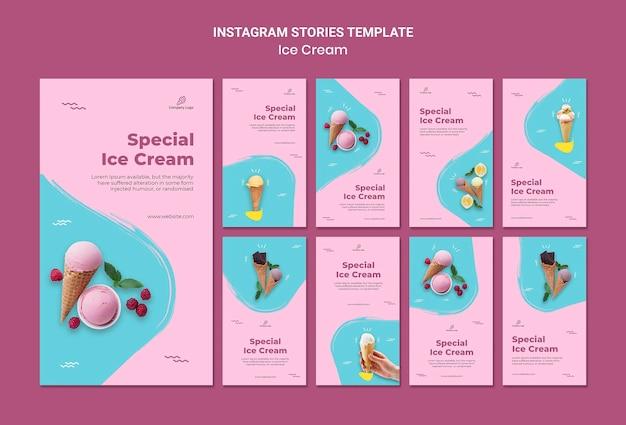 Modelo de histórias do instagram de loja de sorvete Psd grátis