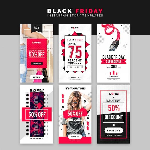 Modelo de histórias do instagram de sexta-feira negra Psd Premium