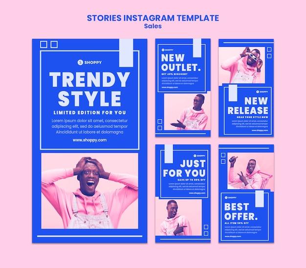 Modelo de histórias do instagram de venda de pontos de venda Psd Premium