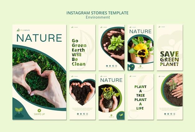 Modelo de histórias do instagram natureza e mudas Psd grátis