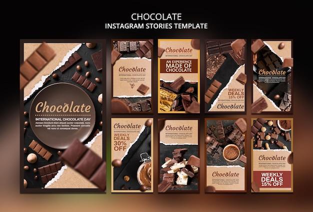 Modelo de histórias do instagram para loja de chocolates Psd grátis
