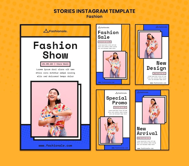 Modelo de histórias instagram de venda de moda Psd Premium
