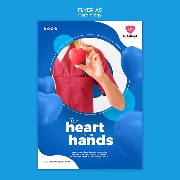 Modelo de impressão de folheto de saúde em cardiologia Psd grátis