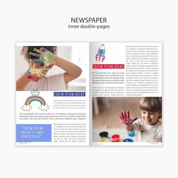 Modelo de jornal sobre a infância das crianças Psd grátis