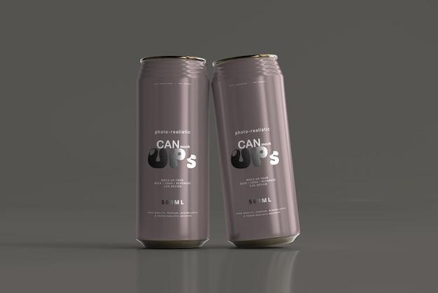 Modelo de lata de refrigerante 500ml Psd grátis