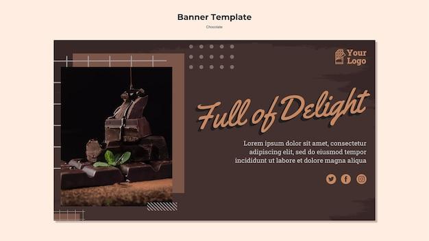 Modelo de loja de chocolate banner Psd grátis