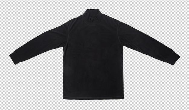 Modelo de maquete de camiseta de manga comprida preta em branco. Psd Premium