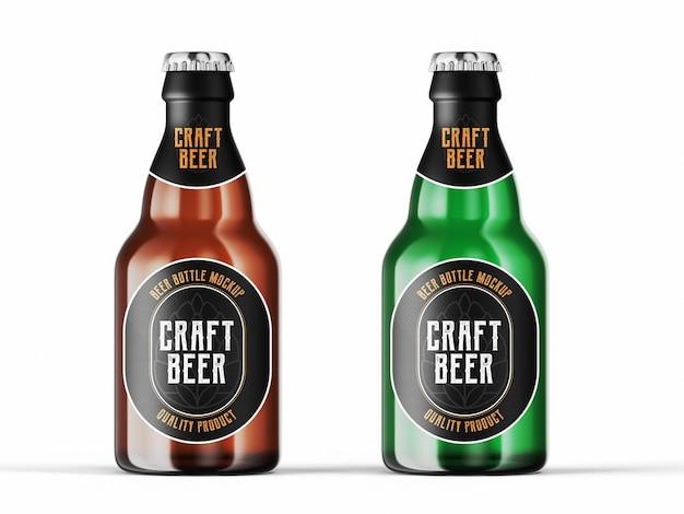 Modelo de maquete de garrafa de cerveja Psd grátis