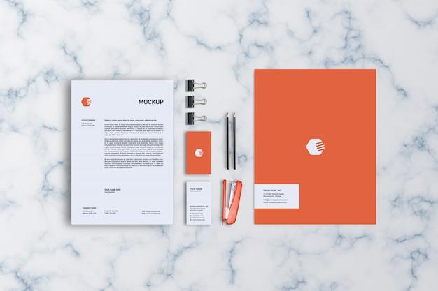 Modelo de maquete de papelaria Psd Premium