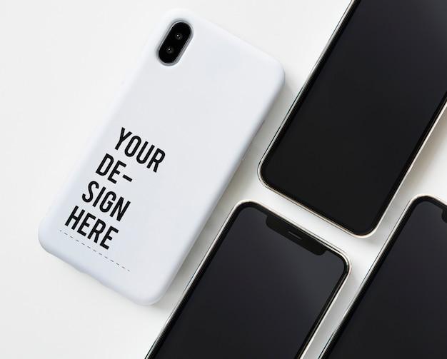 Modelo de maquete premium tela do telefone móvel Psd grátis
