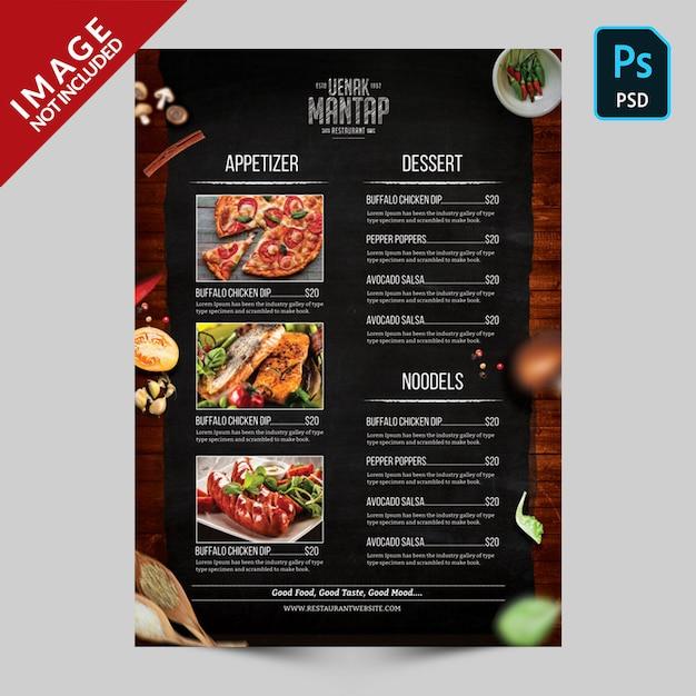 Modelo de menu de livro lado a Psd Premium