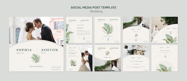 Modelo de mídia social de casamento elegante Psd grátis