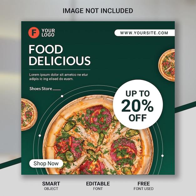 Modelo de mídia social de restaurante de comida Psd Premium
