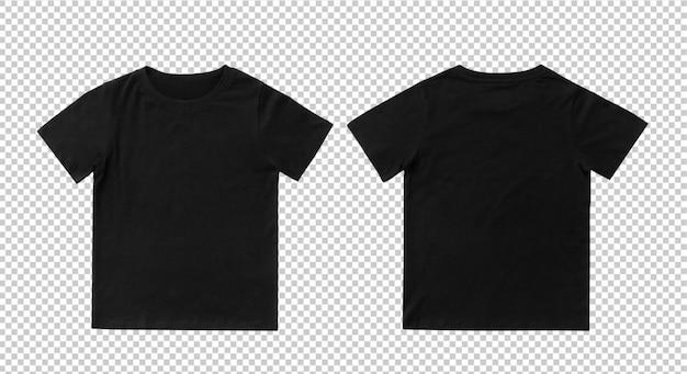 Modelo de mock-up em branco preto crianças t-shirt Psd Premium