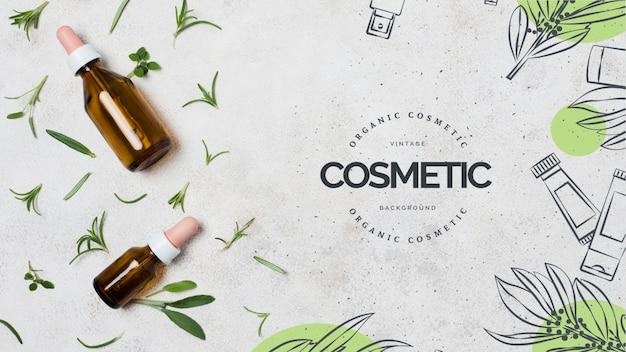 Modelo de negócio de cosméticos orgânicos Psd grátis