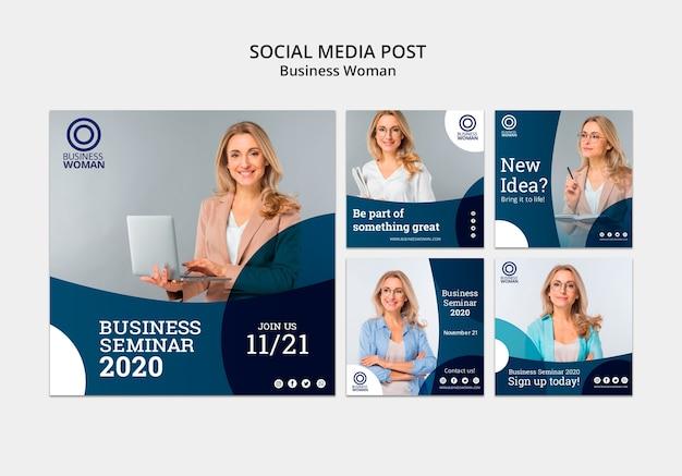 Modelo de negócios para postagens de mídia social Psd grátis