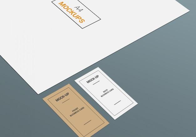 Modelo de página a4 e cartão de visita Psd Premium