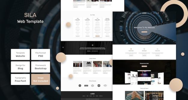 Modelo de página da web de negócios sila Psd Premium