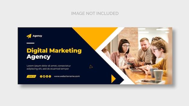 Modelo de página de capa do facebook de marketing digital Psd grátis