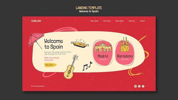 Modelo de página de destino da cultura espanhola Psd grátis